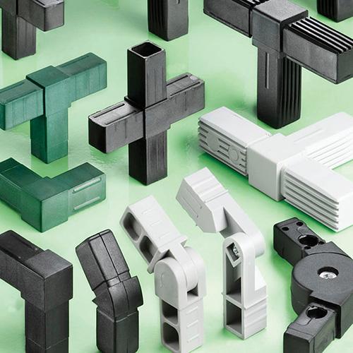 Aluminum tubing nylon fittings for